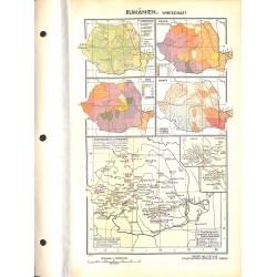 1758 map/print-ROMANIA ECONOMY printed: 1954