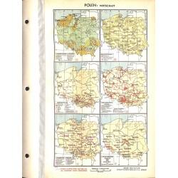 1760 map/print-POLAND ECONOMY printed: 1954