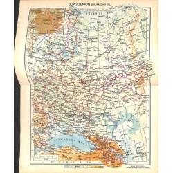 1761 map/print-RUSSIA SOVIET UNION EUROPE printed: 1954