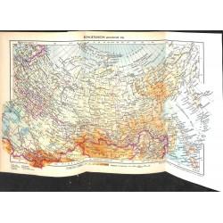 1762 map/print-RUSSIA SOVIET UNION ASIA printed: 1954