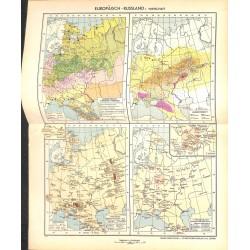 1763 map/print-RUSSIA ECONOMY printed: 1954