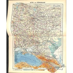 1764 map/print-RUSSIA SOVIET UNION CENTRAL SOUTH printed: 1954