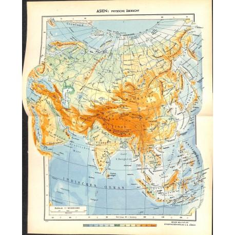 Asia Map Siberia.1765 Map Print Asia Russia Siberia Printed 1954 Wartimeline