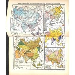 1767 map/print-ASIA RAIN PLANTS printed: 1954