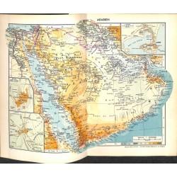 1772 map/print-ARABIA YEMEN SAUDI-ARABIA printed: 1954