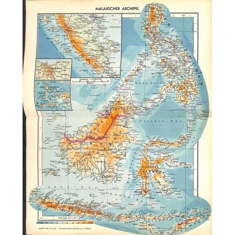 1776 map/print-BORNEO printed: 1954