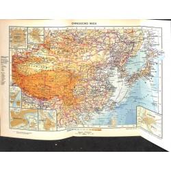 1777 map/print-CHINA MONGOLIA printed: 1954