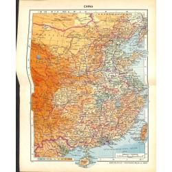 1778 map/print-CHINA TAIWAN printed: 1954
