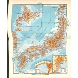 1780 map/print-JAPAN HOKKAIDO printed: 1954