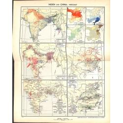1781 map/print-INDIA CHINA ECONOMY printed: 1954