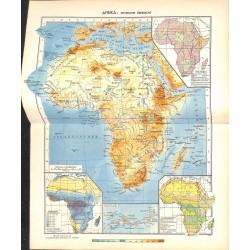 1785 map/print-AFRICA printed: 1954