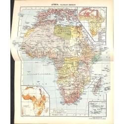 1786 map/print-AFRICA printed: 1954