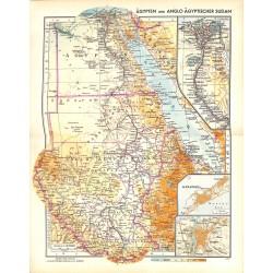 1789 map/print-EGYPT ANGOLA SUDAN AFRICA printed: 1954