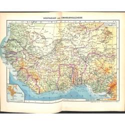 1792 map/print-WEST SUDAN  printed: 1954