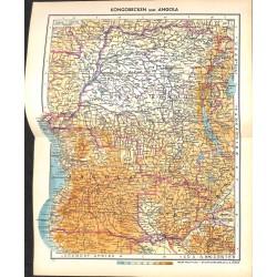 1794 map/print-KONGO ANGOLA printed: 1954