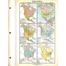 1799 map/print-NORTH AMERICA USA CANADA ME printed: 1954