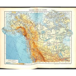 1801 map/print-CANADA ALASKA printed: 1954