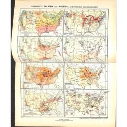 1804 map/print-USA ECONOMY printed: 1954
