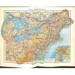 1806 map/print-USA NORTH ATLANTIC STATES printed: 1954