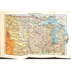 1808 map/print-USA NORTH CENTRAL STATES printed: 1954