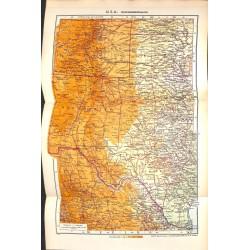 1810 map/print-USA COLORADO MOUNTAINS printed: 1954