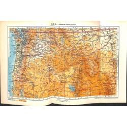 1811 map/print-USA NORTHERN PACIFIC STATES printed: 1954