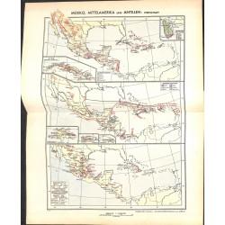1815 map/print-MEXICO ANTILLES ECONOMY printed: 1954