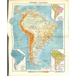 1816 map/print-SOUTH AMERICA BRASIL ARGENTINIA printed: 1954