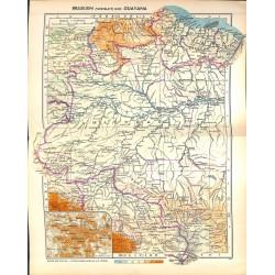1824 map/print-BRASIL WEST GUAYANA printed: 1954