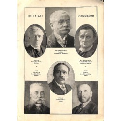 """1908 WWI print 1914/18-Presidents of the Allied Forces,size:23,5 x 32,5 cm-this print comes from the austrian book """"Die gr"""