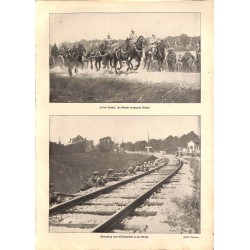 """1912 WWI print 1914/18-german infrantry/ cavalry photos,size:23,5 x 32,5 cm-this print comes from the austrian book """"Die g"""