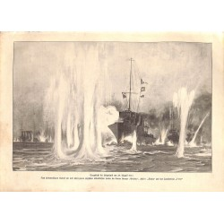 1913 WWI print 1914/18-Sea Battle Helgoland August 25. 1914 England,size:23,5 x 32,5 cm-this print comes from the austrian