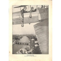 "1919	 WWI print 1914/18-	Airplanes bombs	,size:	23,5 x 32,5 cm	-	this print comes from the austrian book ""Die grosse Zeit""		Grea"