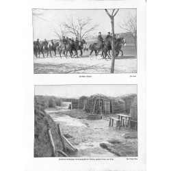 """1921 WWI print 1914/18-serbian cavalry and camp,size:23,5 x 32,5 cm-this print comes from the austrian book """"Die grosse Ze"""