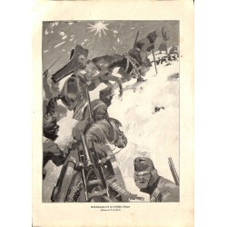 1922 WWI print 1914/18-Artillery transport in serbian mountains drawing by Finetti,size:23,5 x 32,5 cm-this print comes fr
