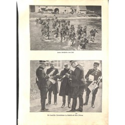 """1923 WWI print 1914/18-Zuaven french foreign soldiers,size:23,5 x 32,5 cm-this print comes from the austrian book """"Die gro"""