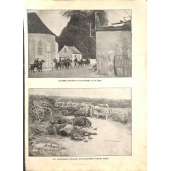 """1924 WWI print 1914/18-France Marne photos ,size:23,5 x 32,5 cm-this print comes from the austrian book """"Die grosse Zeit"""""""