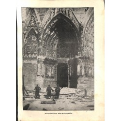"""1926 WWI print 1914/18-Cathedral France Reims,size:23,5 x 32,5 cm-this print comes from the austrian book """"Die grosse Zeit"""