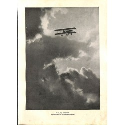 """1927 WWI print 1914/18-Airplane observation,size:23,5 x 32,5 cm-this print comes from the austrian book """"Die grosse Zeit"""""""