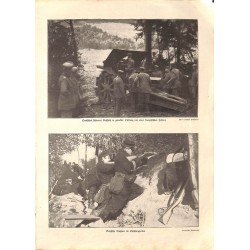1930 WWI print 1914/18-German Artillery/ Belgium soldiers photos,size:23,5 x 32,5 cm-this print comes from the austrian bo
