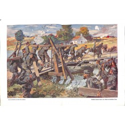 1931 WWI print 1914/18-German Pioneers painting by Anton Hoffmann,size:46 x 32,5 cm-this print comes from the austrian boo