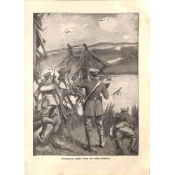 """1932 WWI print 1914/18-English soliders under german fire,size:23,5 x 32,5 cm-this print comes from the austrian book """"Die"""