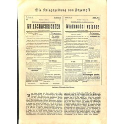 """1938 WWI print 1914/18-newspaper articles Przembysl,size:23,5 x 32,5 cm-this print comes from the austrian book """"Die gross"""