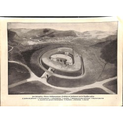 """1940 WWI print 1914/18-Fortress trenches etc.,size:23,5 x 32,5 cm-this print comes from the austrian book """"Die grosse Zeit"""