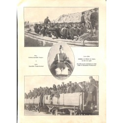 """1941 WWI print 1914/18-Japan troops soldiers,size:23,5 x 32,5 cm-this print comes from the austrian book """"Die grosse Zeit"""""""