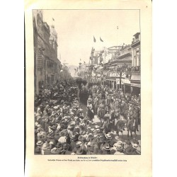 1943 WWI print 1914/18-Australia Adelaide mobilization soldiers,size:23,5 x 32,5 cm-this print comes from the austrian boo