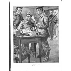 1954	 WWI print 1914/18-	German soldiers drawing by Lutz Ehrenberger	,size:	23,5 x 32,5 cm	-	this print comes from the austrian