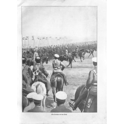 """1955 WWI print 1914/18-Russian Cavalry Czar Nikolaus I.,size:23,5 x 32,5 cm-this print comes from the austrian book """"Die g"""
