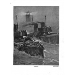 "1958	 WWI print 1914/18-	Torpedo boats drawings by P. Direnz	,size:	23,5 x 32,5 cm	-	this print comes from the austrian book ""Di"