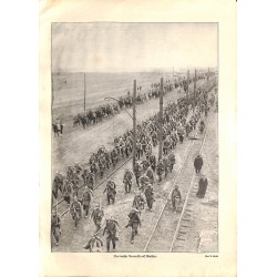 1964 WWI print 1914/18-German Soldiers marsh on Warzaw Poland,size:23,5 x 32,5 cm-this print comes from the austrian book